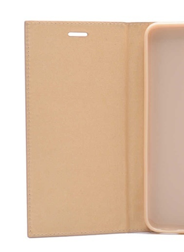 Microsonic Samsung Galaxy A7 2018 Kılıf Gizli Mıknatıslı Delux  Altın